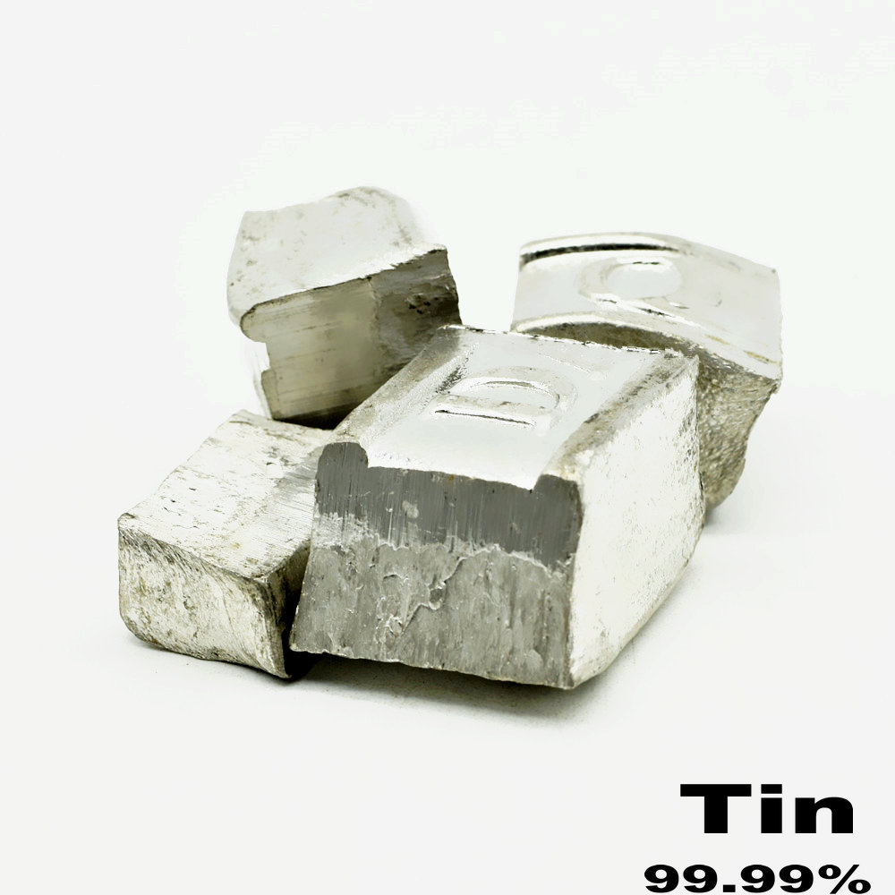 Soft Metal Tin Ingot Sn 99.99% MIN High Purity Good For Welding Collection DIYs Crafts Workshops