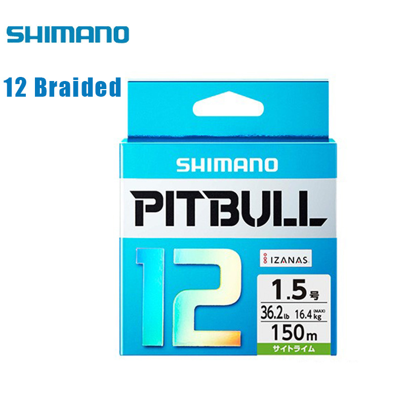 SHIMANO PITBULL12 Green Blue 150M 200M 12 Braided WireBraided Fishing Line Multifilament Fishline For Lake River