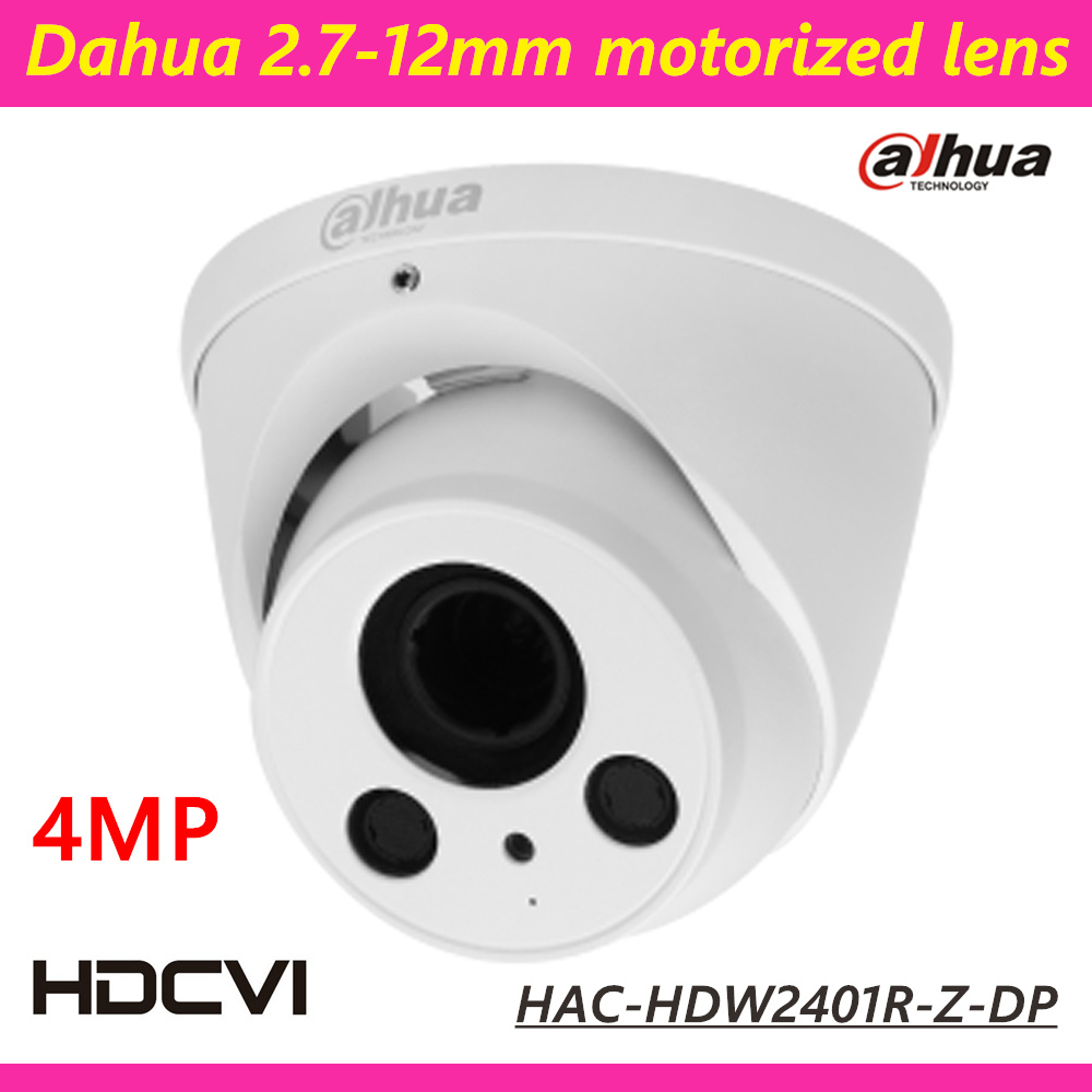 Newest Dahua HDCVI Camera HAC-HDW2401R-Z-DP 4 megapixels 2.7-12mm Motorized Lens HD and SD dual-output 2560x1440 Security Camera dh hac hfw2221r z ire6 dahua original hd 1080p infrared night vision security camera ip67 audio cctv camera hac hfw2221r z ire6
