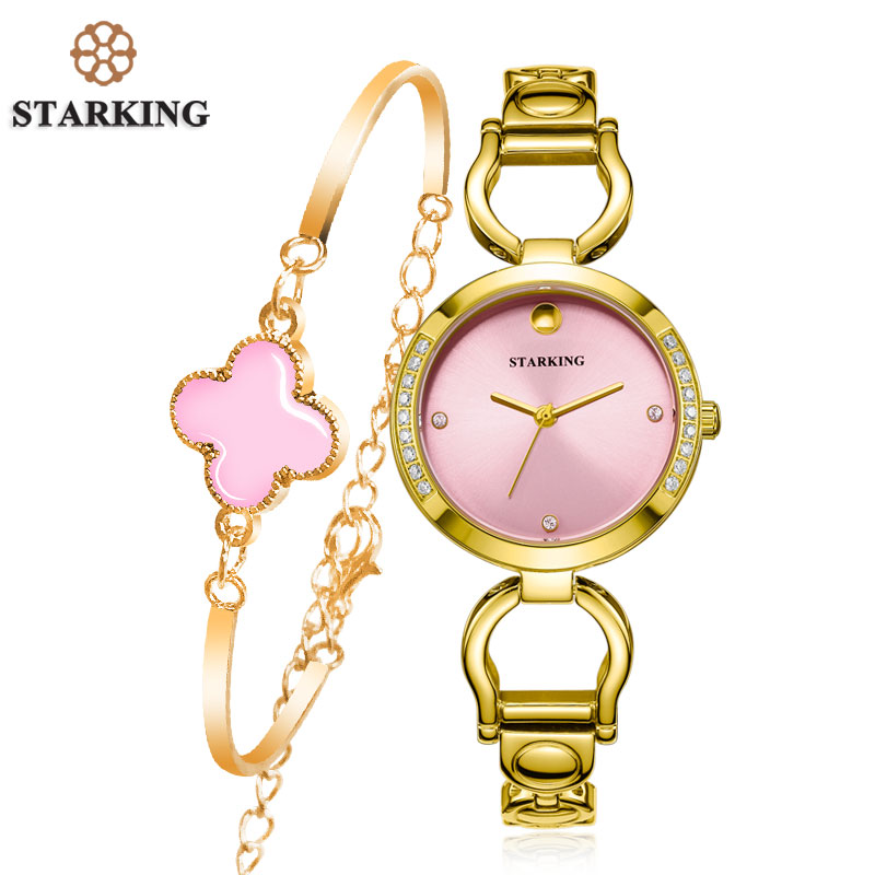 STARKING Hot Selling Women Quartz Watch Full Steel Diamond Wristwatch Fashion Ladies Rose Gold Rhinestone Watches Klockor BL0984 hot selling stainless steel watch women