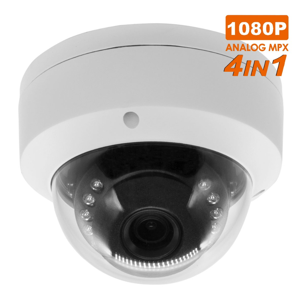 1080P AHD/TVI/CVI/CVBS CCTV Camera 4 in 1 mini Analog Cameras waterproof/vandalproof Outdoor security cam security surveilence mini camera 1080p 2 0mp ahd cvi tvi cvbs 4 in 1 cctv cam 3 7mm wide lens video