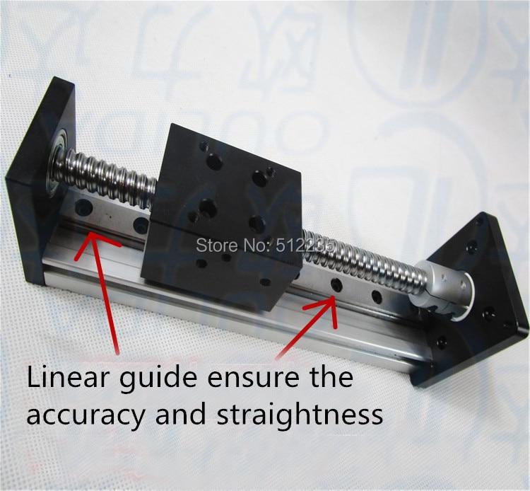 High Precision CNC SGX 1610 Ballscrew Sliding Table effective stroke 600mm+1pc nema 23 stepper motor  XYZ axis Linear motion toothed belt drive motorized stepper motor precision guide rail manufacturer guideway