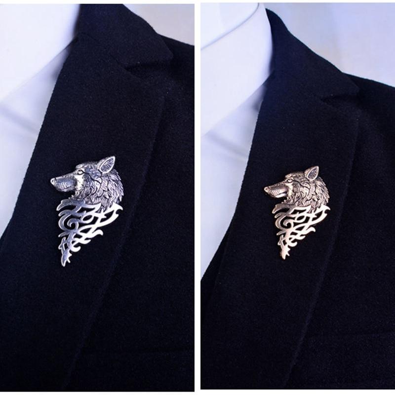 2019 Retro Wolf Broche Vintage Punk Kraag Pins Badge Broches Knop - Mode-sieraden - Foto 2