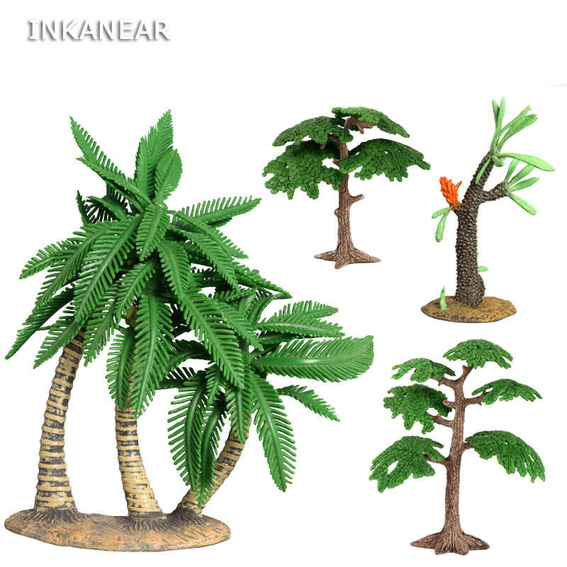 Simulation Coconut plant Model Micro Fairy Garden Miniature Ornaments Figurines lifelike Succulents DIY Accessories Decoration