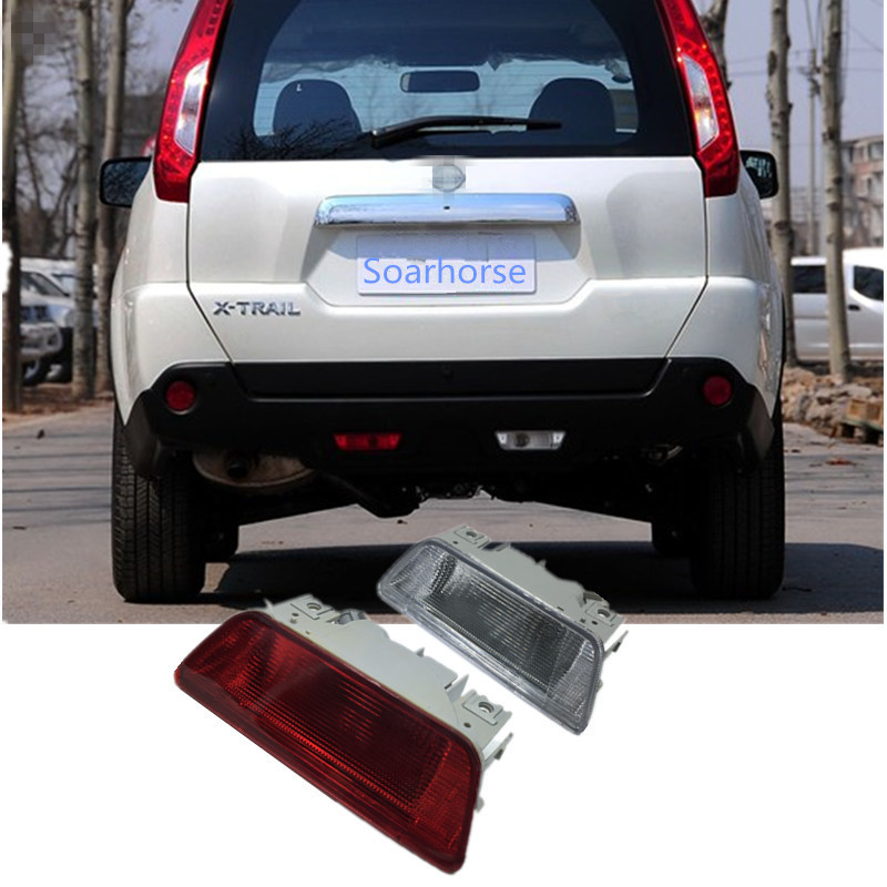 Soarhorse Car rear bumper fog lamp Reverse Brake Reflector Lights For nissan X-Trail XTrail 2008 2009 2010 2011 2012 2013 dongzhen fit for nissan bluebird sylphy almera led red rear bumper reflectors light night running brake warning lights lamp