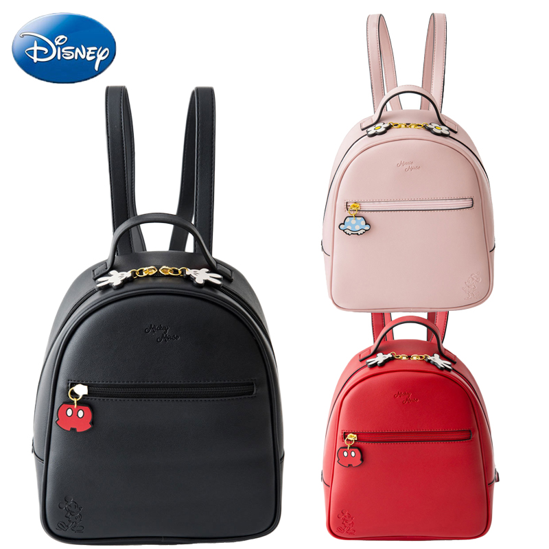 Disney Quality Mickey Minnie Mouse Women Bag Kids Girls Ladies Casual Fashion Cartoon Bags PU Waterproof Travel Plush Backpack