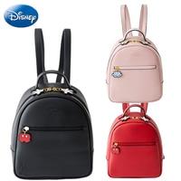 Disney Quality Mickey Minnie Mouse Women Bag Kids Girls Ladies Casual Fashion Cartoon Bags PU Waterproof Travel Plush Backpack