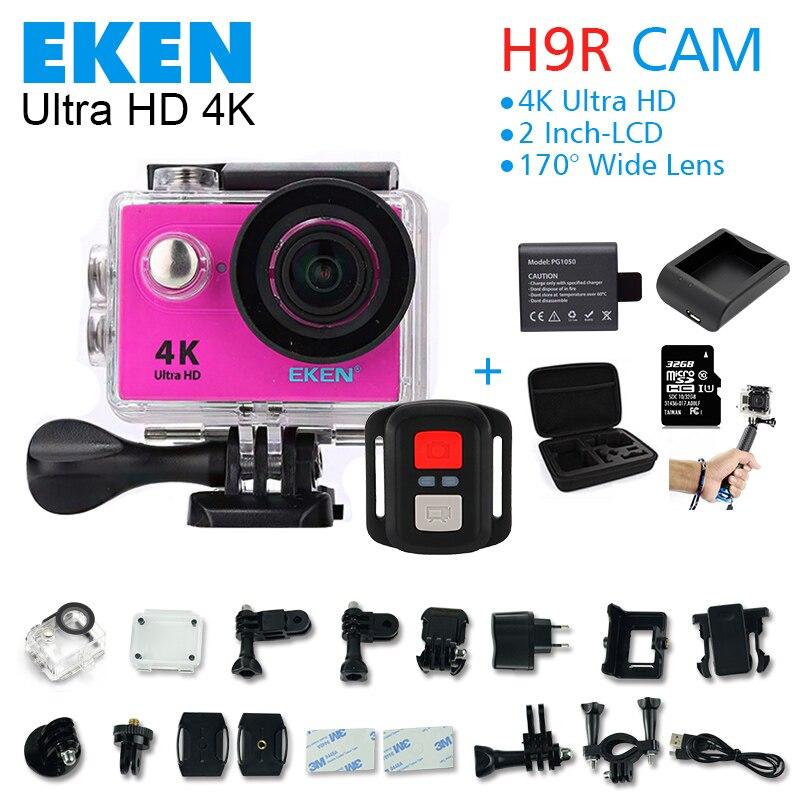 2017 Original H9/H9R acción cámara 4 K wifi Ultra HD 1080 p 60fps 170d ir imperm