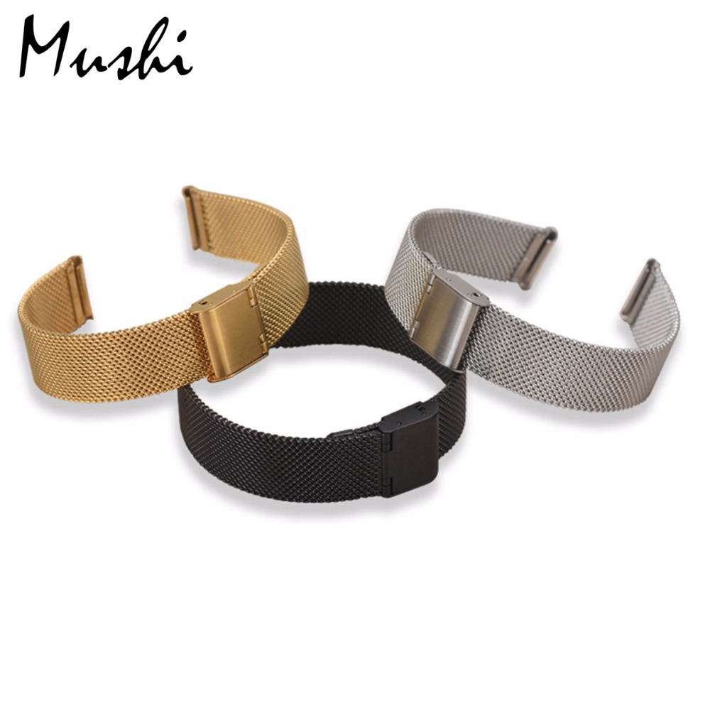 Milanese steel Watchband for DW Watchband Strap Silver Stainless Steel Bracelet Fit DW(Daniel Wellington) 36 40mm The Dial Strap