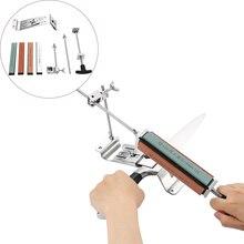 المهنية سكين مبراة أداة مجموعة الفولاذ المقاوم للصدأ سكين المطبخ مبراة طاحونة شحذ إصلاح زاوية ثابتة مع الشحذ