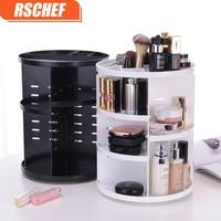 Fashion 360 Degree Rotating Makeup Organizer Box Brush Holder Jewelry Organizer Case Jewelry Makeup Cosmetic Storage