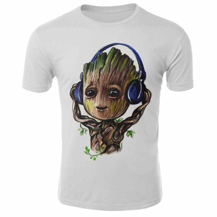 Off White Ik Ben Groot T-shirt Mannen Guardians Of The Galaxy 2 Grappige 3D T-shirt Superheld Twig Grout Tops Nieuwigheid unisex T-shirt Mannen