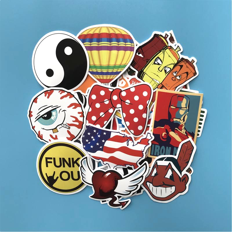 SW 100PCS Waterproof Mixed Funny Hit Stickers For Car Laptop Motorcycle Skateboard Luggage Furnitur Decal Toy Sticker 7