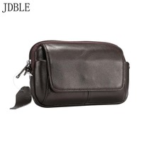 6.5 inch Mobile Phone Bag Multi Phone Belt Pouch Holster Bag Case Genuine Leather Fine Lines Men Leisurely Hanging Case JS0373