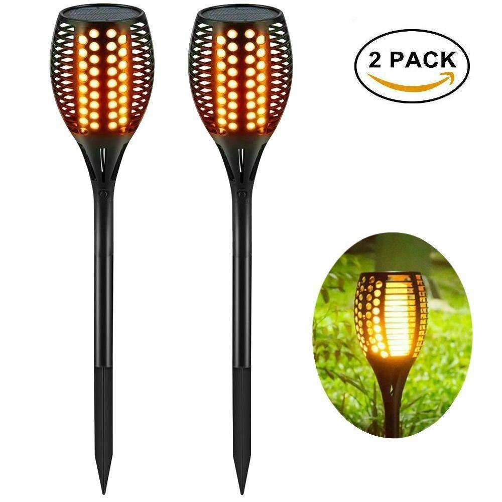 chama bruxuleante led solar gramado lampadas led 02
