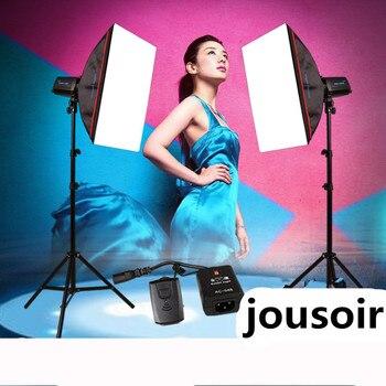 Photo lamp kit studio flash high light 160W studio softbox portrait shooting equipment CD50