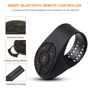 Image 3 - Bluetooth 4.0 Remote Control Media Button Music Player Controller Car Kit For Car Steering Wheel Bike For IOS For Android