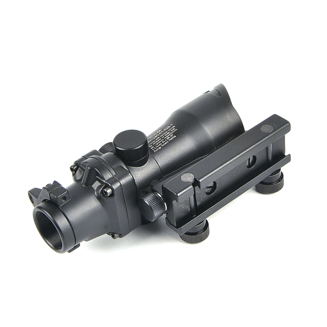 ACOG 1X32 Tactical Red Green Dot Sight Illuminated Optical Rifle Scope With 20mm Rail For Airsoft Gun 3
