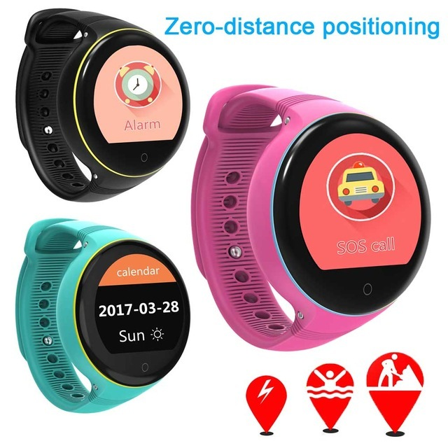 S668 Kids GPS Smart Watch IP54 Waterproof Round Screen GPS SOS Wristwatch Remote Viewfinder for Kids Support SIM Card PK Q50
