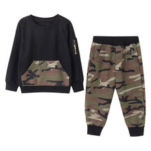 4276d6ccb (Ship from US) Camouflage personality boy outdoor sports suit Toddler Kids Baby  Boys Outfits Clothes Camouflage T-Shirt Tops+Long Pants Set