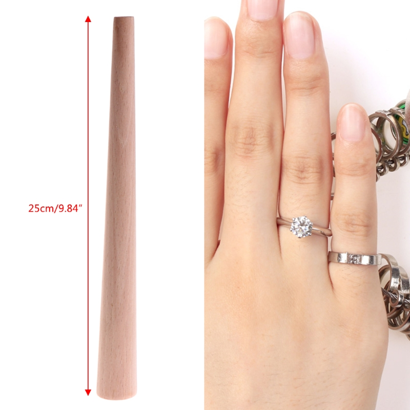 Round Wood Mandrel Jewellery Repair Ring Stick Forming Polish Wooden Bezel Tool