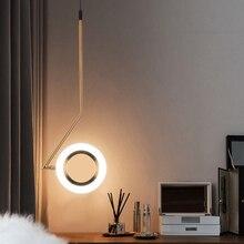 Novelty Aluminum Rings Shine Led Pendant Lights Bedroom Lamp Bedside Dining Room Loft Deco A Hanging Light