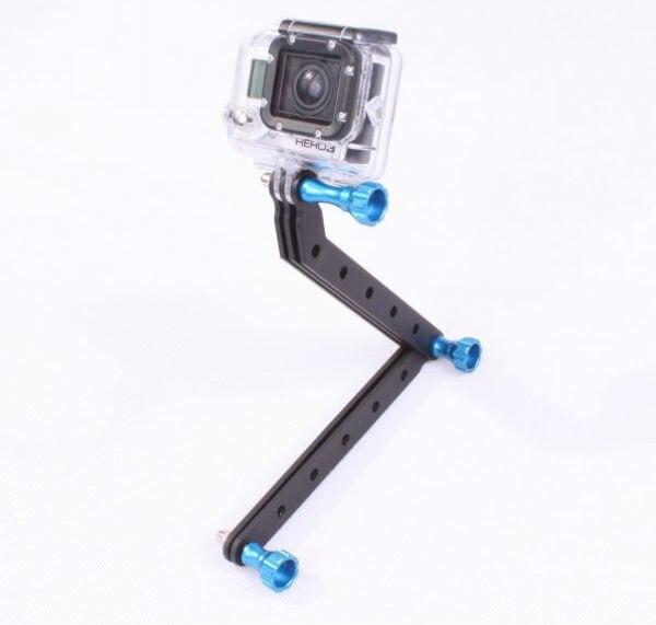 CNC mecanizado de aleación de aluminio brazo de extensión y tornillos para Gopro HD Hero3 deportes Cámara titular accesorio F05816