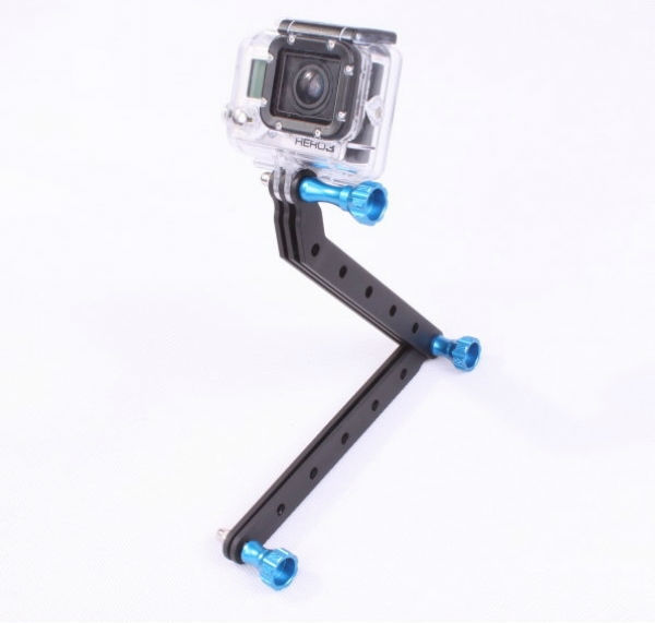 F05816 CNC Machining Aluminum Alloy Extension Arm and Screws For Gopro HD Hero3 sports camera holder