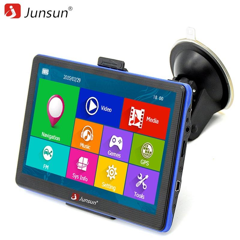 Junsun 7 HD Car GPS Navigation FM Bluetooth AVIN Map Free Upgrade Navitel Europe Sat Nav