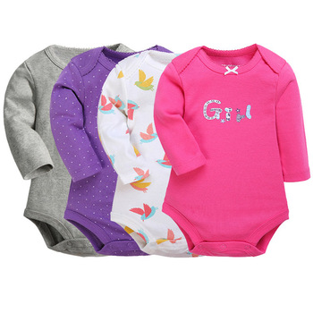 YaoYao Bear Bodysuit 4pieces/lot Autumn Newborn Cotton Body Baby Long Sleeve Underwear...