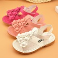 2016 summer newest baby girl's summer and spring shoes and sandals flower shoes sandals for baby girls xtp-553