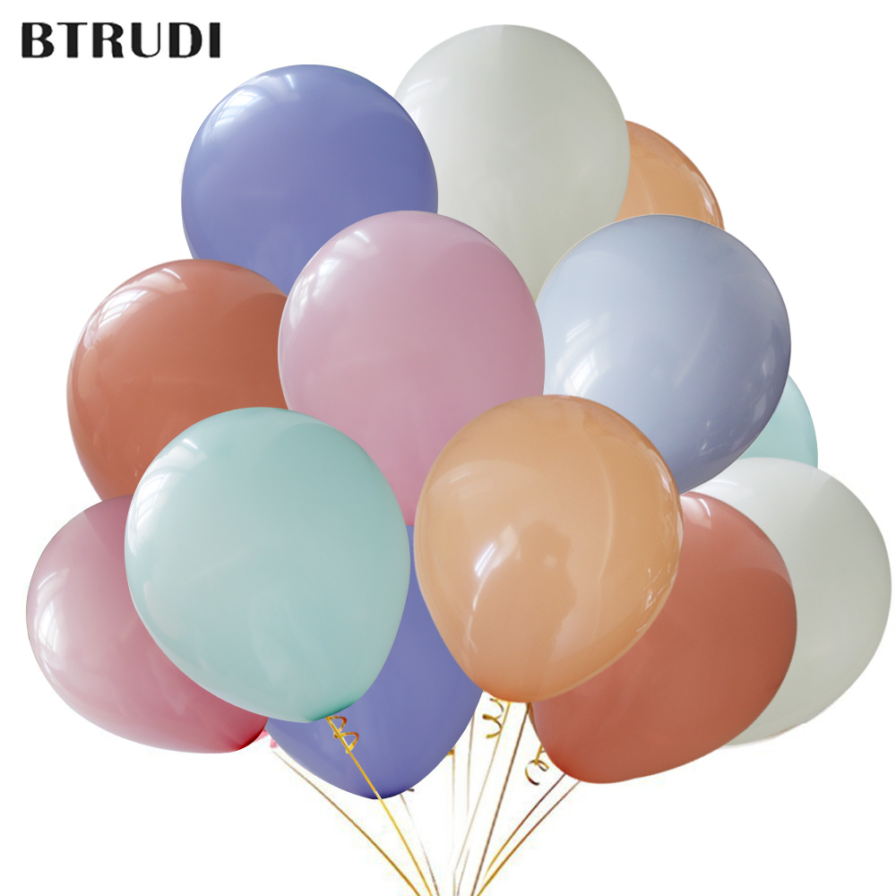 Btrudi 30/50/100pcs/lots Candy Color 10inch Thicken 2.2g Happy Birthday Baby Shower Wedding Party Balloon Childrens Toy Festive & Party Supplies