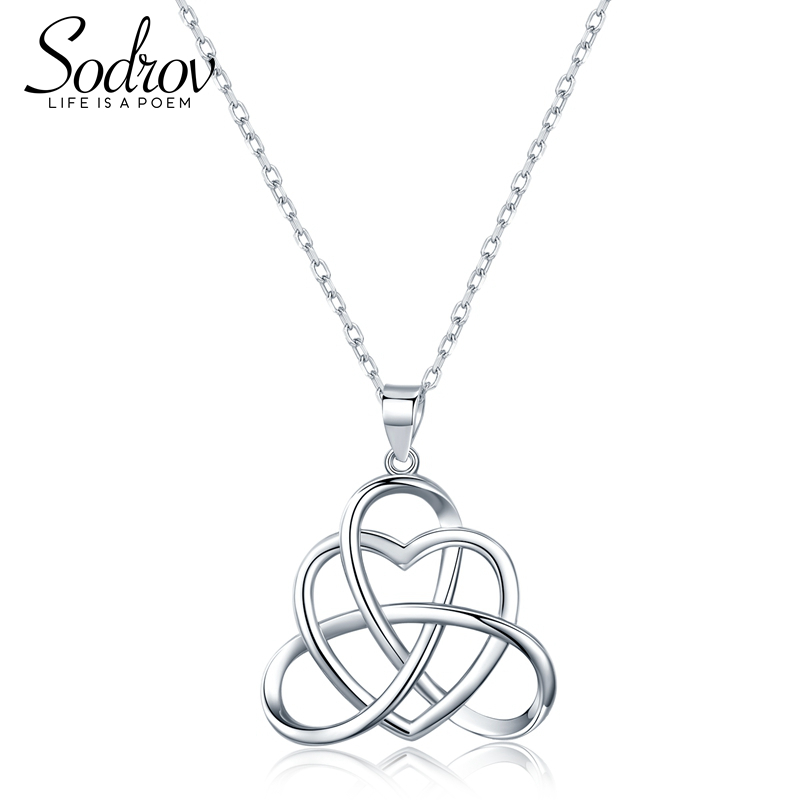 SODROV Authentic 925 Sterling Silver Pendants Necklaces Charming/Elegant Hollow Heart Fine Jewelry Gifts HN023 PersonalizedSODROV Authentic 925 Sterling Silver Pendants Necklaces Charming/Elegant Hollow Heart Fine Jewelry Gifts HN023 Personalized