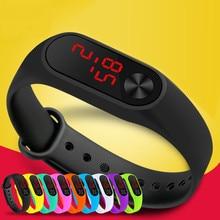 Waterproof Sports LED Display Wristband Watches Digital Sili