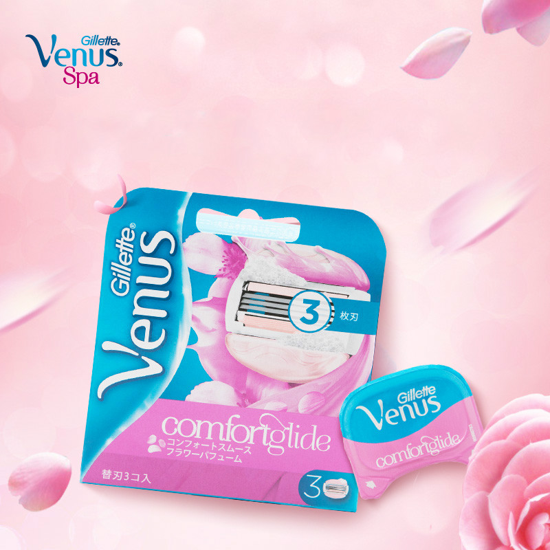 Gillette Lady Shaving Blade Venus Flower Sweetheart Hair Women Removal Shaving Hair Removal Knife Head 3 Blade / Head