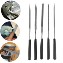 Dayfuli DIY 5 Pcs Jarum File Set Perhiasan Diamond Grinding Kayu Ukir Model Logam Kaca Batu Needle File Kerajinan Tangan alat(China)