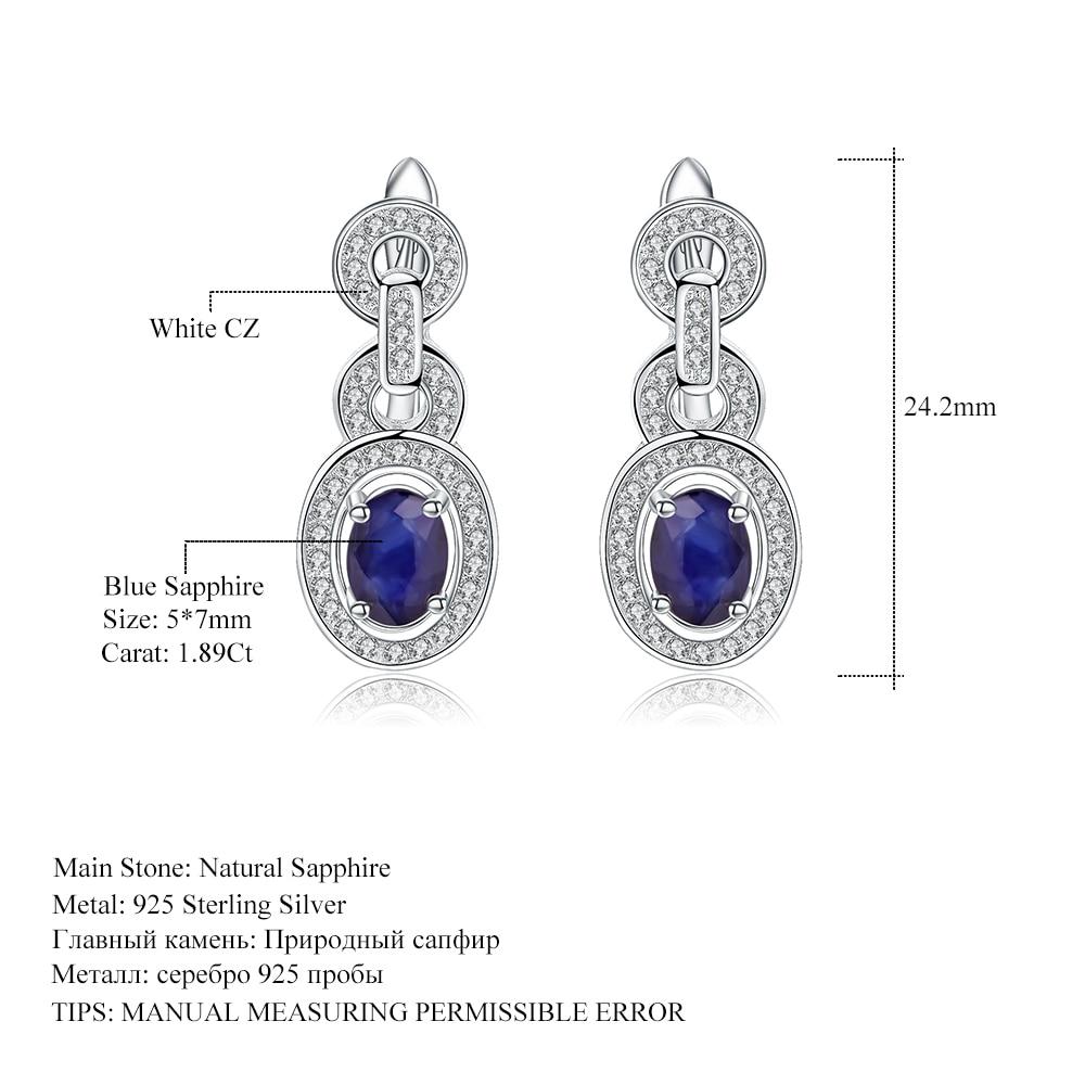 Natural Stone earrings Sterling Silver Dangle Earrings Blue Sapphire Natural stone earrings Natural Sapphire Sterling silver EARRINGS