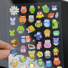 1pcs DIY Cartoon Giraffe transparent Sticker Lovely Calendar Deco Owl Sticker Writing Memo Pad for Children