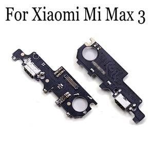 Novo Original Para Xiao mi mi Max 3 max3 mi c mi crophone Placa Do Módulo USB Doca de Carregamento Porto Flex substituição de Peças de cabo Max3