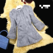 лучшая цена Rabbit fur The Whole Leather Rabbit Fur Coat Is A Long Suit Of Women's Wear, 2018 Korean Edition, Autumn And Winter New Clothes