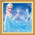 Elsa Snowflaks Olaf Cartoon Europe Animation pattern diamond mosaic embroidery painting landscape rhinestones picture Home Decor