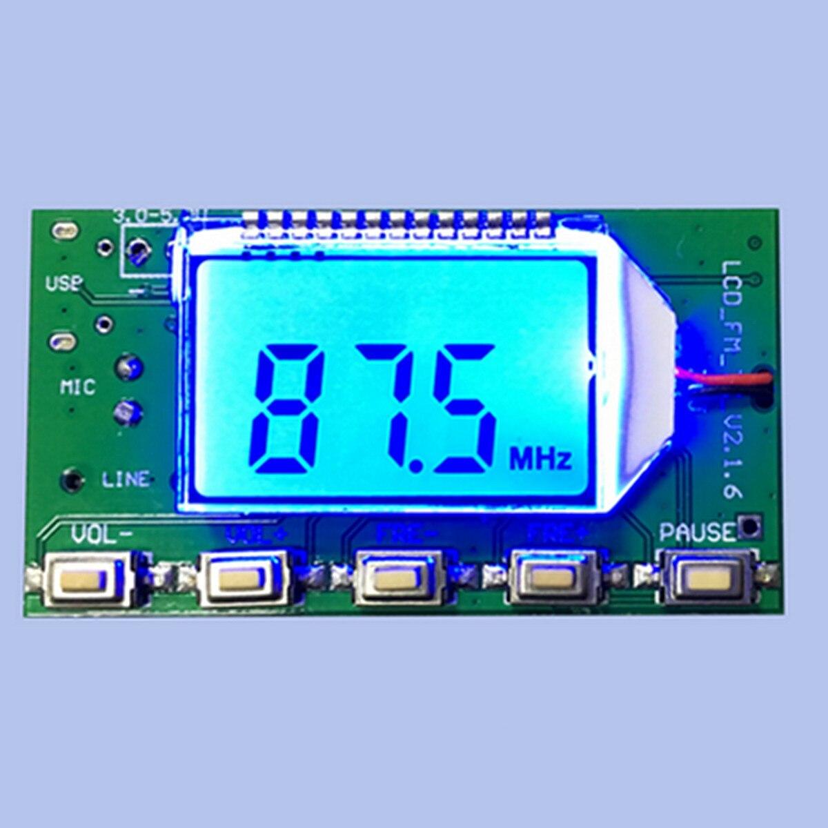 DSP PLL 87 108 MHz MICRÓFONO INALÁMBRICO Digital ESTÉREO FM emisor Módulo de componentes acústicos