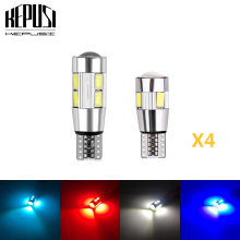 цена на 4x Car Auto LED T10 Canbus 194 W5W 5730 5630 LED Light Bulb No Error LED Light Parking T10 LED Car Side Light  Car Styling