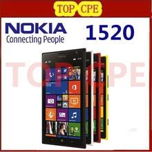 "1520 Unlocked 100% Original Mobile Phone NOKIA Lumia 1520 Quad-Core 2G+16G Storage WIFI Windows Mobile 8 6.0"" 1920x1080 20MP 3G"