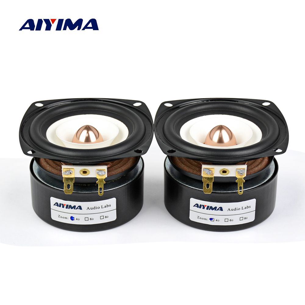 AIYIMA 2Pcs 3Inch Audio Portable Speakers 4Ohm 8Ohm 15W Full Range Hifi Bass Speaker Altavoz Portatil Speaker DIY Home Theater цена 2017