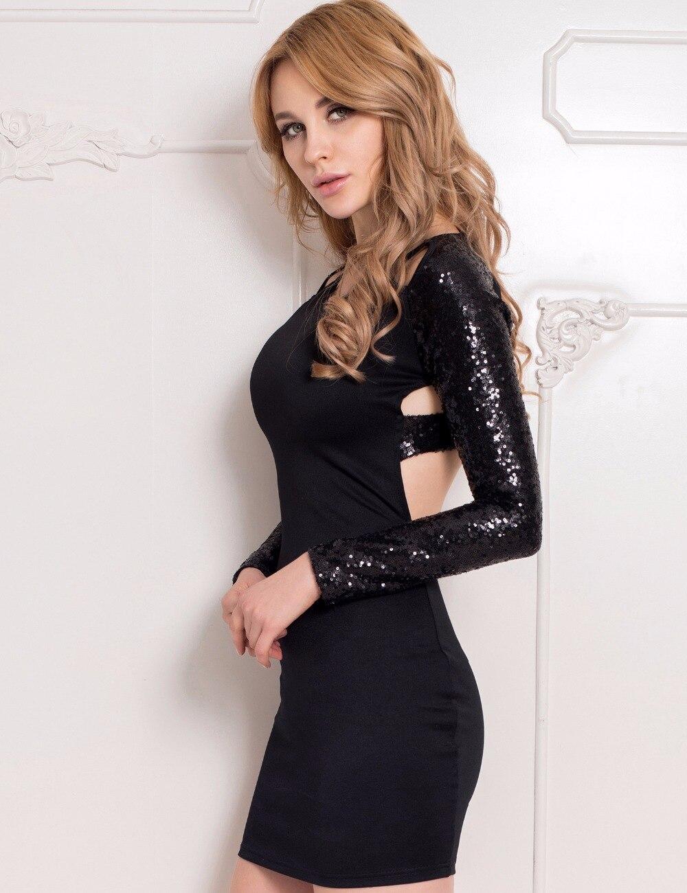 Online Get Cheap Long Sleeve Sequin Dresses -Aliexpress.com ...