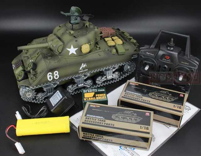 f3a305846227 placeholder Henglong 1 16 scale 2.4GHz RC tank Sherman M4A3 battle Tank  U.S.Army Ultimate