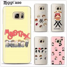 Phone Case Monsta X KPOP Boy Group cover For Samsung Galaxy S6 S7 Edge S8 S9 plus J2 J3 J5 J7 A3 A5 A7 2016 2017 A8 plus 2018(China)