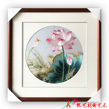 Suzhou embroidery painting finished lotus living room bedroom porch hanging decoration