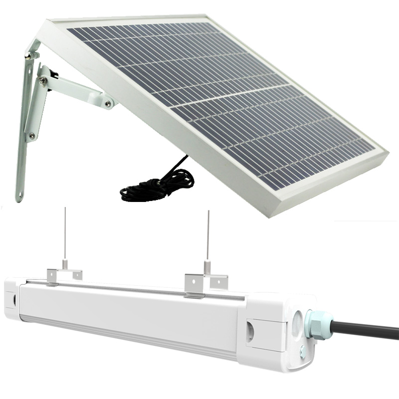 NEW 20W Solar Led Tri-Proof Light LED Tube light Waterproof IP65